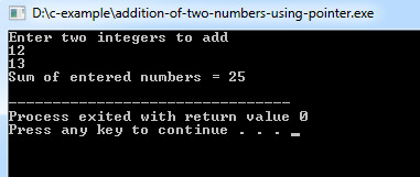 add-numbers-using-pointers-c
