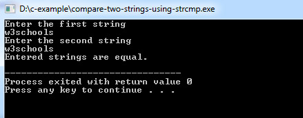 compare-strings-c