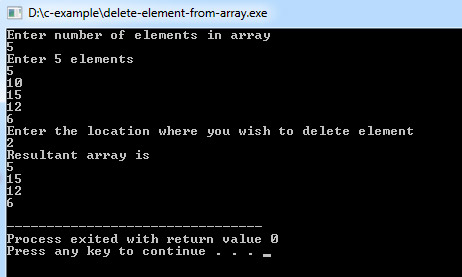 delete-element-from-array