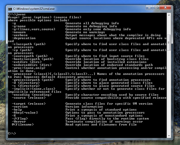 how to run java class from command line