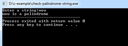 palindrome-string