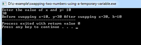 swapping-two-numbers-using-a-temporary-variable