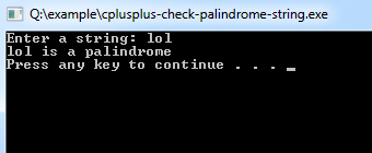 cplusplus-check-palindrome-string