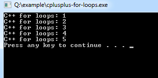 cplusplus-for-loops