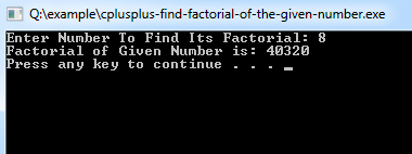 cplusplus-find-factorial-of-the-given-number