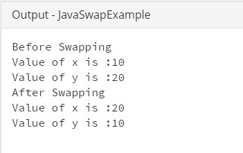 java_swap_without_temporary_variable