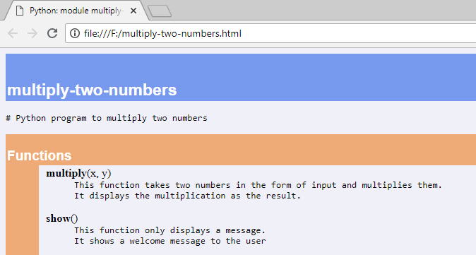 multiply two numbers html file screen